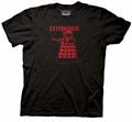 Doctor Who Red Linear Dalek Exterminate mens t-shirt