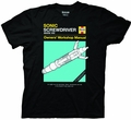 Doctor Who Sonic Screwdriver Manual Black T-Shirt pre-order