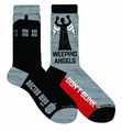 Doctor Who Tardis & Weeping Angel Crew Socks 2-Pack pre-order
