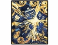 Doctor Who Van Gogh Exploding Tardis Fleece Throw