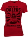 Doctor Who Vote No on Daleks juniors t-shirt pre-order