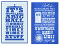 Doctor Who Wibbly Wobbly Timey Wimey Tea Towels pre-order