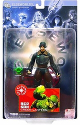 Elseworlds Series 3 Red Son Green Lantern Action Figure *card not mint*
