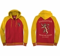 Game of Thrones hoodie Lannister Hear Me Roar mens mustard and red pre-order