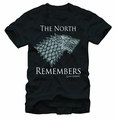 Game Of Thrones In The North Black T-Shirt pre-order