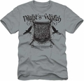 Game of Thrones lightweight t-shirt Night Watch Seal mens silver