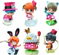 Gintama Petit Chara Land Gintama San In Wonderland 6-Piece Display pre-order