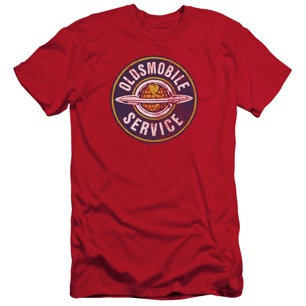 GM Oldsmobile slim-fit t-shirt Vintage Service mens Red