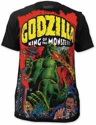 Godzilla Main Street Big Print Subway t-shirt