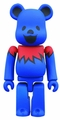 Grateful Dead Dancing Bear 100% Bearbrick Blue pre-order