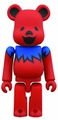 Grateful Dead Dancing Bear 100% Bearbrick Red pre-order