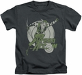 Green Arrow kids t-shirt Right On Target charcoal