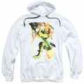 Green Arrow pull-over hoodie Painted Archer adult white