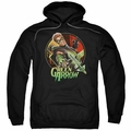 Green Arrow pull-over hoodie Sunset Archer adult black