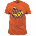 Guardians of the Galaxy t-shirt Rocket Raccoon 30/1 Soft Fitted mens heather orange