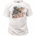 Guardians of the Galaxy t-shirt Rocket Raccoon Traditional Fit 18/1 mens white