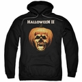 Halloween II pull-over hoodie Pumpkin Shell adult black