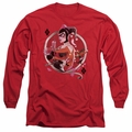 Harley Quinn adult long-sleeved shirt Harley Q red