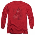 Harley Quinn adult long-sleeved shirt Harley's Packing red