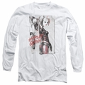 Harley Quinn adult long-sleeved shirt Ink Wash Harley white