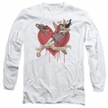 Harley Quinn adult long-sleeved shirt Perfect Angel white