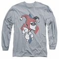 Harley Quinn adult long-sleeved shirt Profiling athletic heather