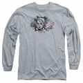 Harley Quinn adult long-sleeved shirt Sketch athletic heather