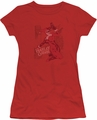 Harley Quinn juniors t-shirt Harley's Packing red