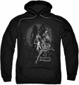 Harley Quinn pull-over hoodie Bad Girls Are Good adult black