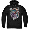 Harley Quinn pull-over hoodie Death By Love adult black