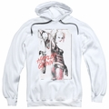 Harley Quinn pull-over hoodie Ink Wash Harley adult white