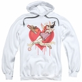 Harley Quinn pull-over hoodie Perfect Angel adult white