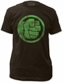 Hulk t-shirt Fist Bump Soft Fitted 30/1 mens coal
