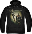 Injustice Gods Among Us pull-over hoodie Battle Of The Gods adult black