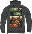 Injustice Gods Among Us pull-over hoodie Panels adult charcoal