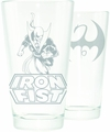 Iron Fist Symbol Etched Pint Glass pre-order