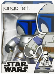 Jango Fett Mighty Muggs Star Wars vinyl figure *bad box*