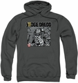 Judge Dredd pull-over hoodie Fenced adult charcoal