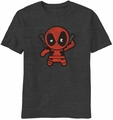Kawaii Deadpool Tinypool t-shirt men Charcoal Heather