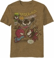 Kawaii Marvel Explosive Finale t-shirt men Mocha Heather pre-order