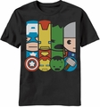 Kawaii Marvel Power Squad t-shirt men Black pre-order