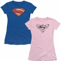 Man of Steel Juniors Logo t-shirts