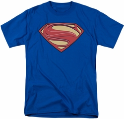 Man of Steel t-shirt New Solid Shield mens royal