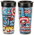 Marvel Captain America 16 oz. Plastic Travel Mug pre-order