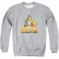 Masters of the Universe adult crewneck sweatshirt She Ra Rough Ra athletic heather