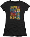 Masters Of The Universe juniors t-shirt sheer Character Heads black