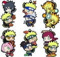 Naruto Shippuden Two Man Rubber Mascot 6-Piece Display pre-order