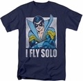 Nightwing t-shirt Fly Solo mens navy