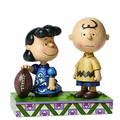 Peanuts Trad Lucy/Charlie Brown Football Figure pre-order