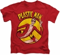 Plastic Man kids t-shirt Portrait in Circle red